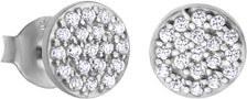 Třpytivé stříbrné náušnice s čirými zirkony LP1258-4/1
