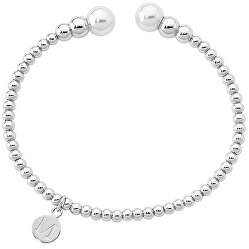 Pevný ocelový náramek s perlami 14626.01.0.000.010.1