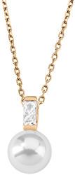 Strieborný náhrdelník s perlou a kamienkom 12265.01.1.000.010.1 (retiazka, prívesok)