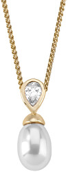 Stříbrný náhrdelník s perlou a kamínkem 12268.01.1.000.010.1 (řetízek, přívěsek)