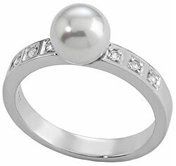 Ezüst gyűrű gyöngyvel és kövekkel 12563.01.2.913.010.1