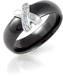 Čierny keramický prsteň QJRQY6157KL