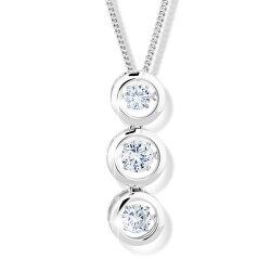Dámsky strieborný náhrdelník M43064 (retiazka, prívesok)