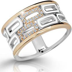 Exklusivní stříbrný prsten se zirkony M11074
