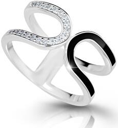 Moderní stříbrný prsten M11077