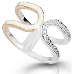 Moderní stříbrný prsten M11078