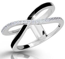 Moderní stříbrný prsten M11079