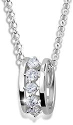 Módny náhrdelník zo striebra M41090 (retiazka, prívesok)