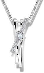 Prekrásny strieborný náhrdelník M41098 (retiazka, prívesok)
