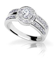 Nadčasový strieborný prsteň so zirkónmi WAIYT-R