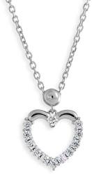 Srdiečkový náhrdelník so zirkónmi M41054