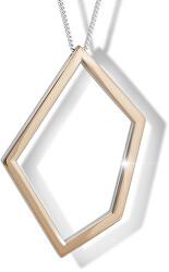 Strieborný náhrdelník s bicolor príveskom M46007 (retiazka, prívesok)
