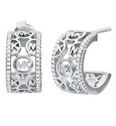 Cercei rotunzi de lux din argint cu zirconii MKC1476AN040