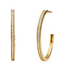 Cercei rotunzi placati cu aur,decorați cu zirconiu MKC1178AN710