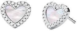 Romantické stříbrné náušnice s perletí MKC1340AH040