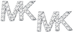 Stříbrné náušnice s logem MKC1256AN040
