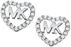 Stříbrné srdíčkové náušnice MKC1243AN040