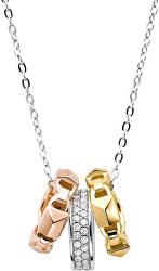 Strieborný náhrdelník s príveskami MKC1142AN998 (retiazka, prívesok)