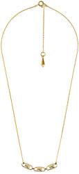 Pozlátený náhrdelník so zirkónmi MKC1143AN710