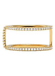 Csillogó aranyozott gyűrű cirkónium kövekkel MKC1113AN710