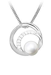 Elegantný strieborný prívesok s perlou PP000118