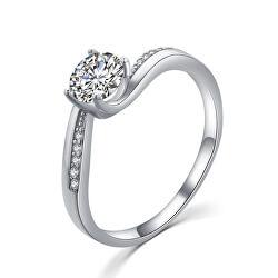 Elegantní stříbrný prsten s čirými zirkony R00005
