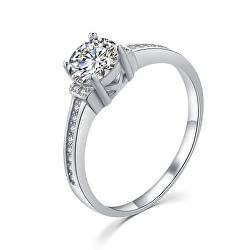 Elegantný strieborný prsteň s čírymi zirkónmi R00006