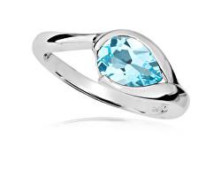 Elegáns ezüst gyűrű kék topázzal RG0001