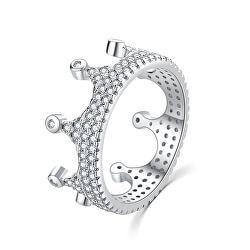 Luxus ezüst gyűrű cirkónium kövekkel Királyi korona R00021