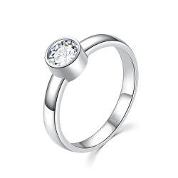 Bájos ezüst gyűrű tiszta cirkónium kövekkel R00020