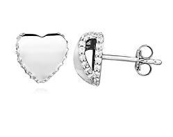 Romantické stříbrné náušnice pecky E0002180