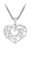Romantický stříbrný přívěsek Srdce P0001039