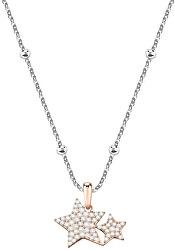 Bicolor hvězdičkový náhrdelník Love SOR17