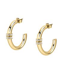 Elegáns aranyozott fülbevalók kristályokkalCreole SAUP06