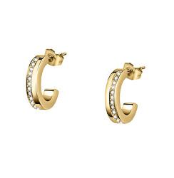 Gyengéd aranyozott fülbevaló kristályokkal Creole SAUP05