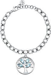 Krásný ocelový náramek s krystaly Strom života Vita SATD24