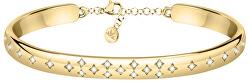 Brățară frumoasă placată cu aur cu cristale Insieme SAKM81