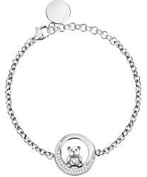 Kuličkový náramek medvídek s krystaly SOR26