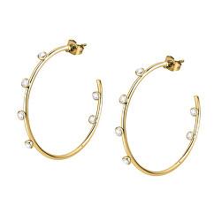 Luxus aranyozott fülbevaló kristályokkal Creole SAUP07
