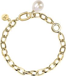 Masívny oceľový náramok s pravou perlou Oriente SARI06