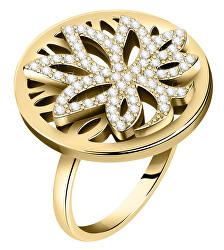 Módní pozlacený prsten Strom života Loto SATD29