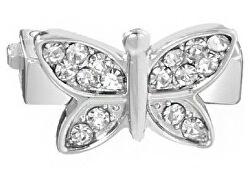 Motýlek s čirými krystaly na náramky Sensazioni SAJT10