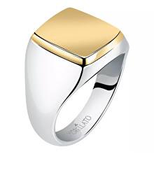 Nadčasový ocelový bicolor prsten Motown SALS622