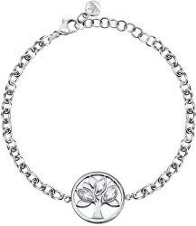 Nadčasový ocelový náramek s krystaly Strom života Vita SATD20