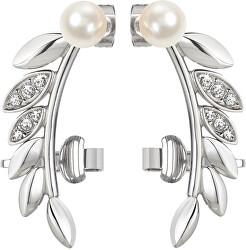 Podélné náušnice s perlou Gioia SAER22
