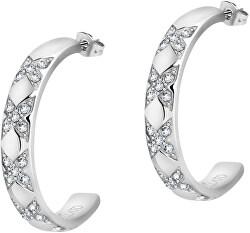 Acél fülbevaló körök kristályokkal Cerchi SAKM69