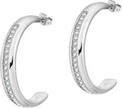 Ocelové náušnice kruhy s krystaly Cerchi SAKM70