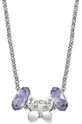 Oceľový náhrdelník Drops Butterfly SCZ228