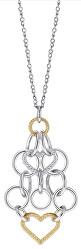 Ocelový bicolor náhrdelník Essenza SAGX02 (řetízek, přívěsek)
