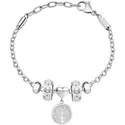 Ocelový náramek s krystaly Strom života Drops SCZ1099